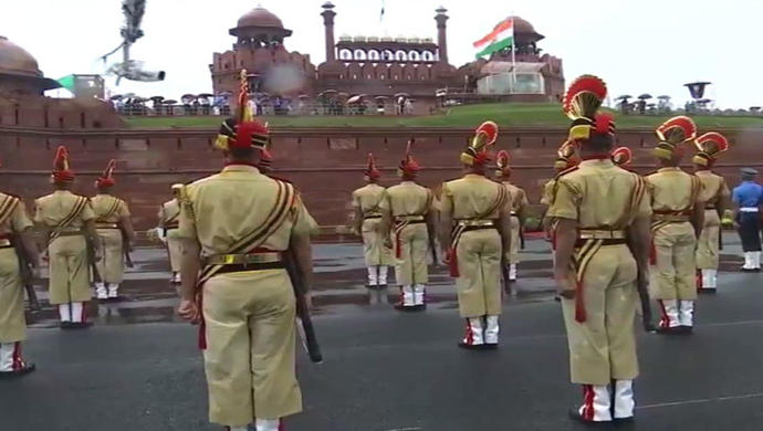 Full Dress Rehearsal At Red Fort Today For 74thIndependence Day Celebrations
