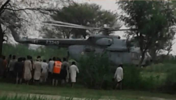Jammu And Kashmir: IAF Helicopter Rescues Seven People Stranded In Kathua