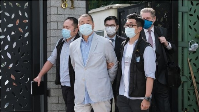 Hong Kong Police Arrests Media Tycoon Jimmy Lai Under New Security Law