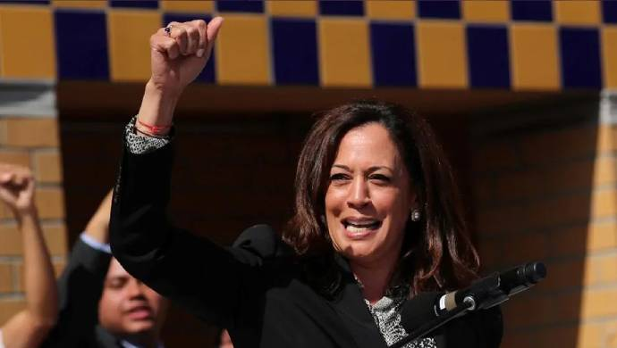 Kamala Harris Remembers Her 'Chithis' In Nomination Speech