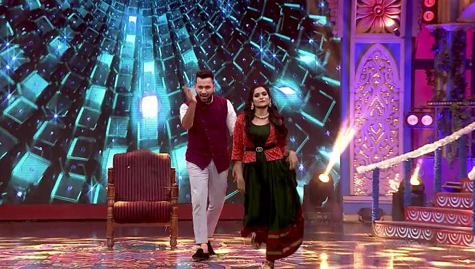 Kranthi and Anusha in Krishna Krishna