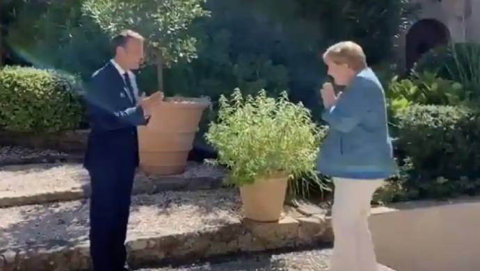 Namaste Goes Global: French President Gives Indian-Style Welcome To German Chancellor