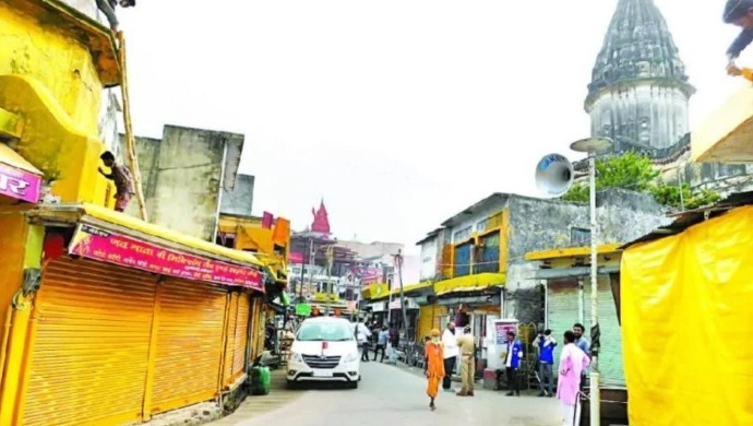 Ayodhya Painted In Lord Ram's Favourite Colour For Temple Bhoomi Pujan