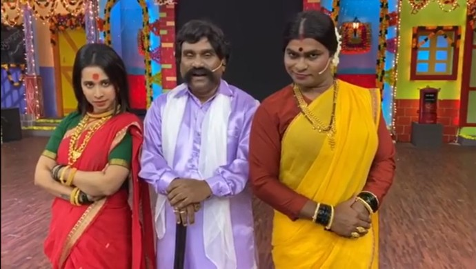 Shreya Bugde, Bhau Kadam Recreate Ratris Khel Chale 2 In Chala Hawa Yeu Dya, Watch Video