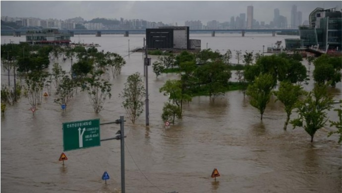 South Korea Battles Heavy Rains Since 42 Days; 14 Dead, Several Missing
