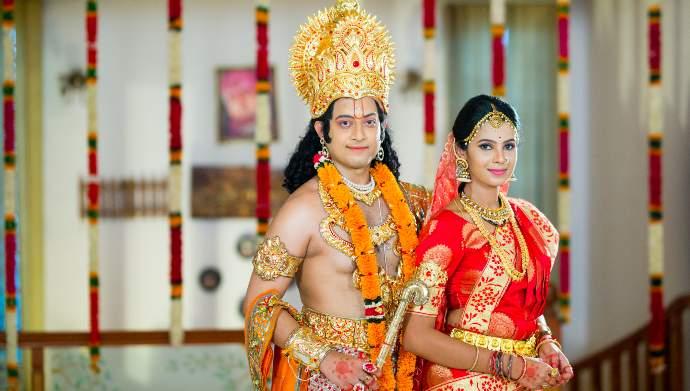 Exclusive: Surya and Chaitu dress up as Radha and Krishna for Suryakantham's Krishnashtami special!