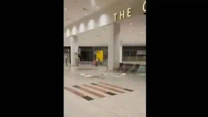 Ceiling At Islamabad Airport Crumbles Due to Heavy Rain, Watch Video