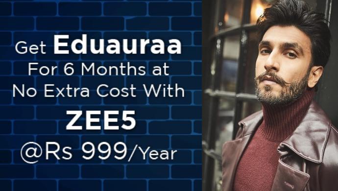 ZEE5 Announces Partnership With Eduauraa With Ranveer Singh As Brand Ambassador