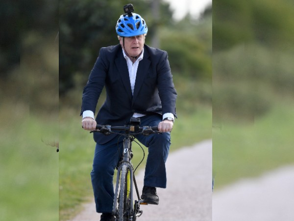 British Prime Minister Boris Jonson Spotted On Indian Bicycle In England