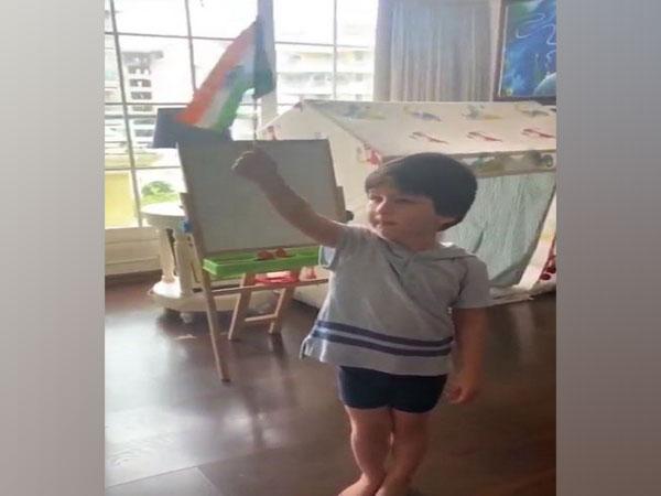 Kareena Kapoor shares adorable video featuring little Taimur Ali Khan as he sings national anthem