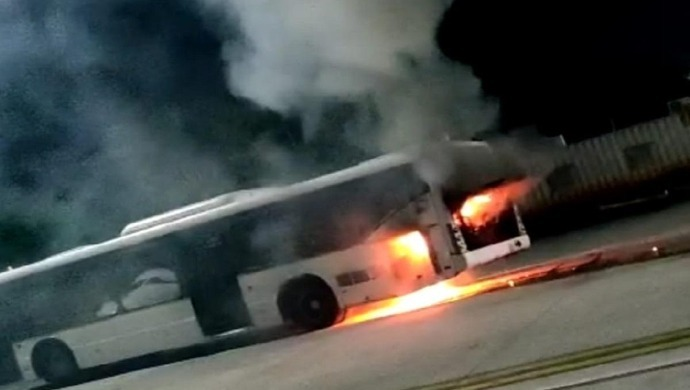 Bus At Lucknow Airport Catches Fire; No Casualties Nor Any Injuries Reported