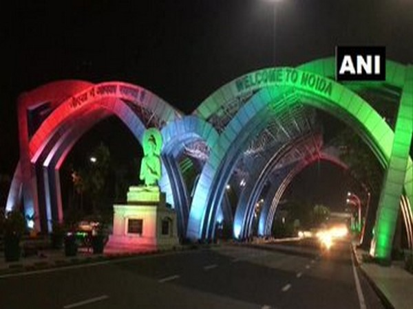Noida entry gate at Delhi-UP border lit up in tricolour on I-Day