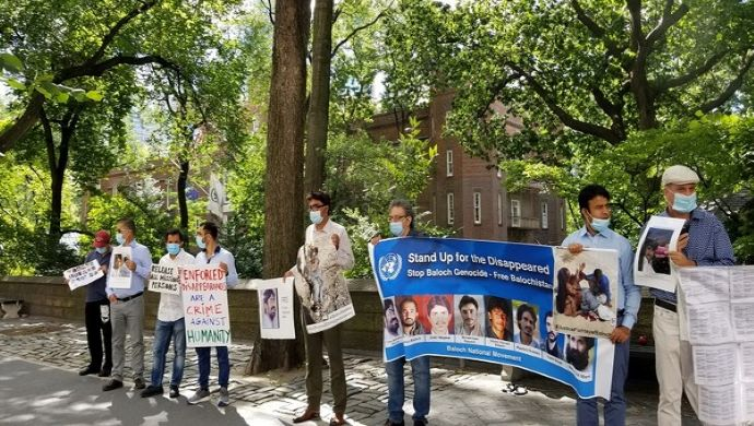 Anti-Pakistan Protests Outside New York Consulate