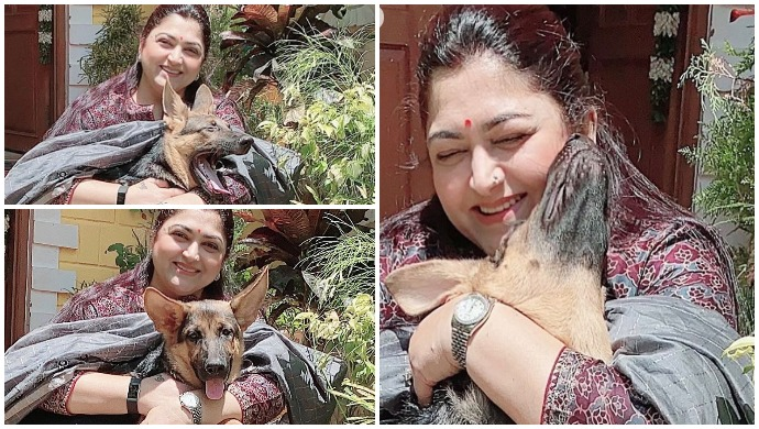 Kushboo Shares A Paw-dorable Picture Of Nila Sundar, Says She Misses Her