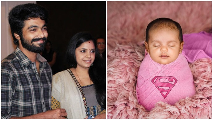 Enakku Innoru Per Irukku Actor GV Prakash And Wife Saindhavi Introduce Their Daughter Anvi With An Uber-Cute Post – See Pics