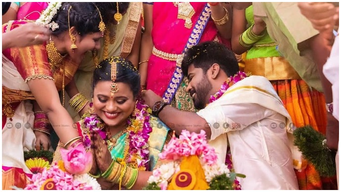 Sembaruthi Fame VJ Kathir And Fiancé Sindhu Tie The Knot Amid Lockdown (See Pics)