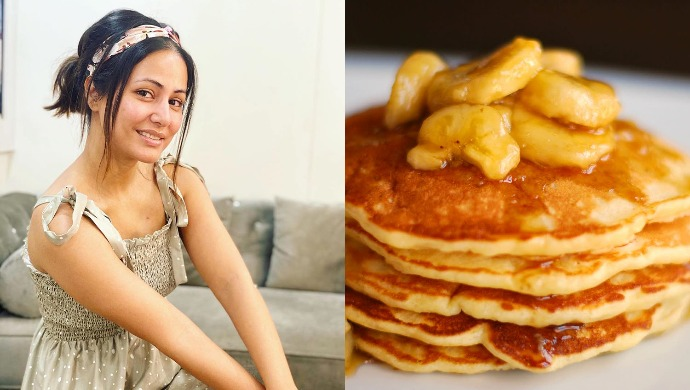 Hina Khan Makes Caramelised Banana Pancakes; You Can Try This Easy Recipe By Chef Sanjeev Kapoor Too Kapoor