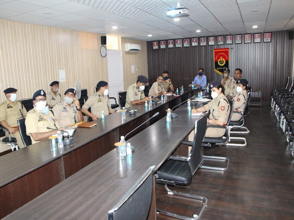 IGP Mukesh Singh reviews border security grid in J-K