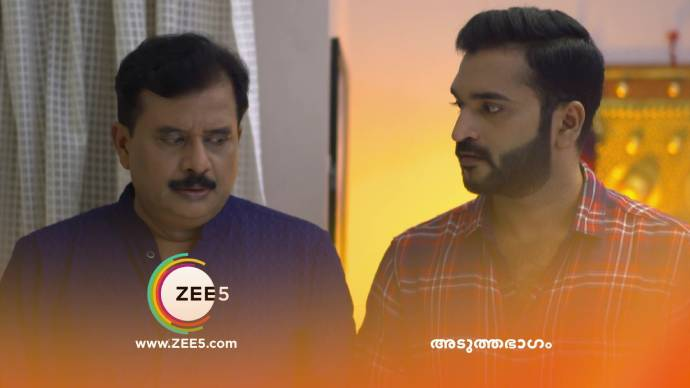 Anand and Krishnan gets shocked on seeing Kalyani's thali (source:ZEE5)