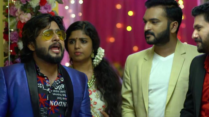 Aravind throws a party for Anand and Kalyani (source:ZEE5)