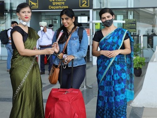 Amid the COVID-19 pandemic; Chandigarh University students and faculty welcomed tourists at Chandigarh International Airport on the eve of World Tourism Day
