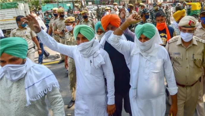 Farmers Protesting Against Modi Govt March The Parliament