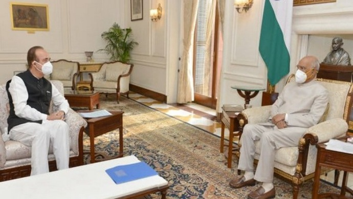 Ghulam Nabi Azad Meets President Kovind, Seeks Rollback Of Farm Bills