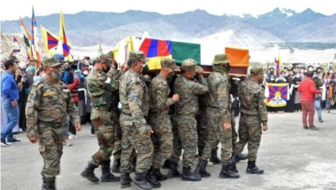 Special Frontier Forces Commander Nyima Tenzin Given A Respectful Farewell In Leh