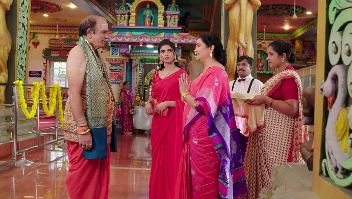 Mrs Vardhan and Mansi with others in Prema Entha Madhuram