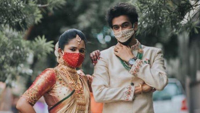 Rama Sakkani Seetha: Here's a glimpse of Navya Rao and Varun's 'masked' wedding amidst the pandemic!