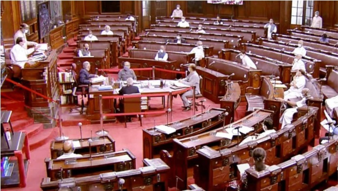 Monsoon Session Of Rajya Sabha Adjourned Once Again After Suspended MPs Refuse To Leave The House