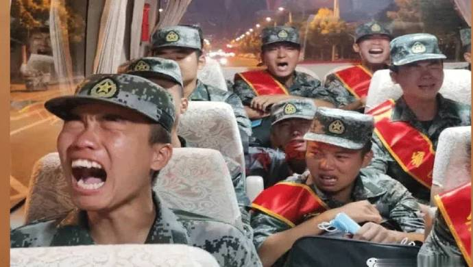 Taiwanese Media Shares Video Of Crying PLA Soldiers Headed To Indian Border