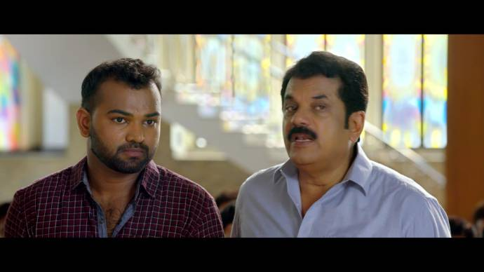Vijayaraghavan and Jomon at the engagement (source:ZEE5)