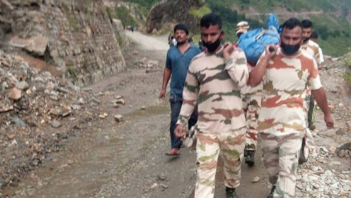 Watch: ITBP Soldiers Carry Body Of Dead Local Over 25 Kilometres