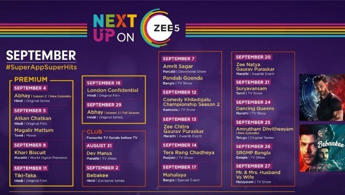 From Mouni Roy's London Confidential to Angad Hasija's Tera Rang Chadiya, check out the ZEE5 lineup for September