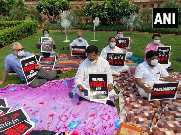 8 suspended Rajya Sabha MPs on indefinite dharna in Parliament premises
