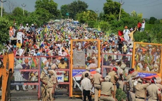 Haryana Farmers Block National Highway-09 To Protest Against Farm Bills