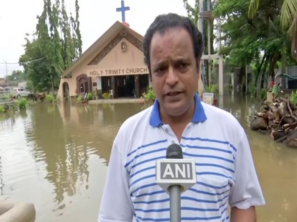 Heavy rains cause water logging at Hyderabad's Holy Trinity Church