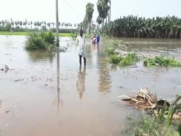 Couple rescued by fire fighters from flooded Andhra village