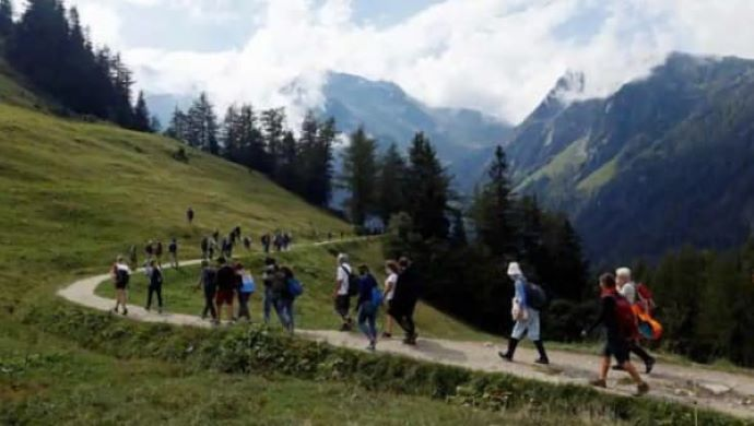 Climate Activists Protest Receding Glaciers in Swiss Alpine Region