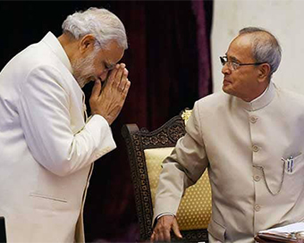 PM Modi Gets Emotional While Paying Tribute To Former President Pranab Mukherjee