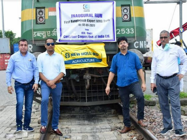 CNH Industrial India exports 100 tractors to Bangladesh in an inaugural freight train run from Dadri, Noida