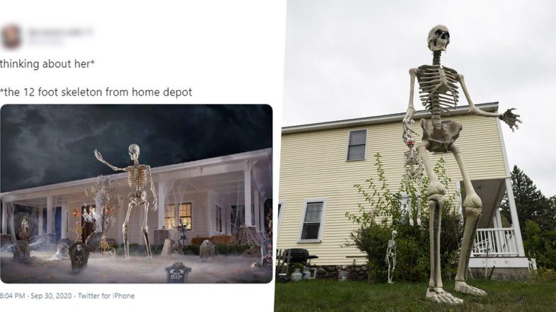 12 Foot Home Depot Skeleton Pics And Funny Memes Float Online As People Are Obsessed With The Giant Skeletal Decorations For Halloween 2020 Zee5 News