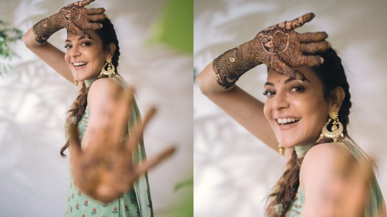 Kajal Aggarwal Shares a Happy Pic From Her Mehendi Ceremony, Looks Stunning in a Desi Outfit! - ZEE5 News