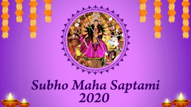 Subho Sasthi 2020 Wishes in Bengali: WhatsApp Stickers, Happy Durga Puja Messages, Facebook Greetings, Insta Captions and GIF Images to Celebrate Maha Sasthi
