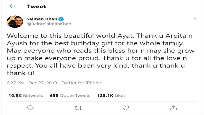 Source: Salman Khan Twitter