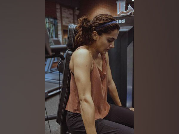 """Tapsee pannus remarks on being called """"Mard"""" after her fitness transformation in the movie """"Rashmi Rocket""""."""