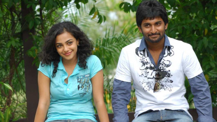 Nithya Menen and Nani in Ala Modalaindi