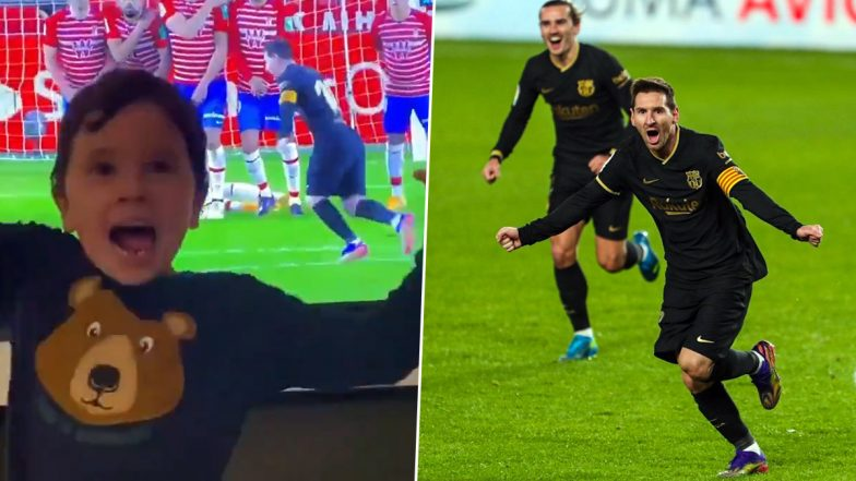 Lionel Messi S 5 Year Old Son Celebrates His Wonderful Free Kick Goal Against Granada Watch Video Zee5 News