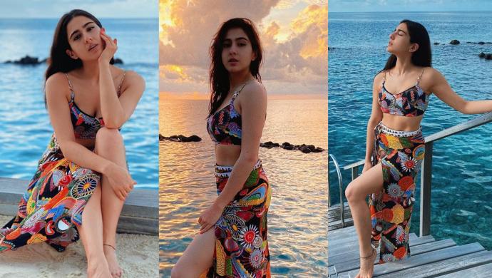 Sara Ali Khan Stuns In A Bikini As She Enjoys Vacationing In Maldives